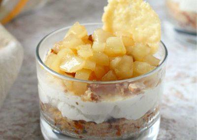 Cheesecake di cous cous, pere e noci di Martina Olivieri