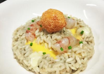 Risotto di pesce con mazzancolle, gorgonzola e frutto della passione di Riccardo Savignoni